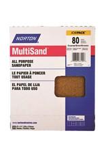 """Multisand Aluminum Oxide 80D 9""""x11"""" 25pk"""