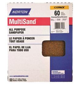 "Norton Multisand Aluminum Oxide 60D 9""x11"" 25pk"
