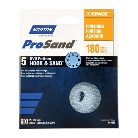 "Norton Pro Sand Hook and Sand 180 grit 5""x 5 and 8 10 pack"