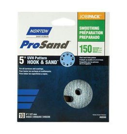 "Norton Pro Sand Hook and Sand 150 grit 5""x 5 and 8 10 pack"