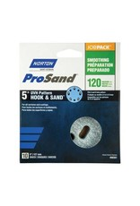 "Norton Pro Sand Hook and Sand 120 grit 5""x 5 and 8 10 pack"