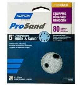 "Pro Sand Hook and Sand 80 grit 5""x 5 and 8 10 pack"