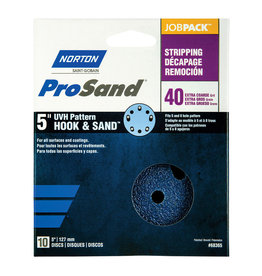 "Pro Sand Hook and Sand 40 grit 5""x 5 and 8 10 pack"