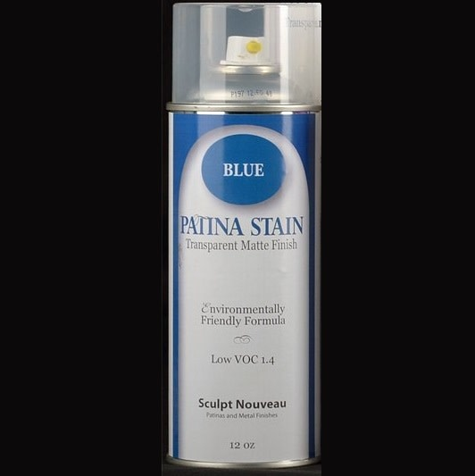 Sculpt Nouveau Patina Stain Matte Blue 12oz Spray Can