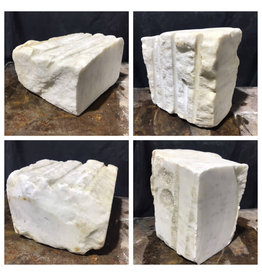 102lb Statuario Veneto Marble 11x11x8 #361025