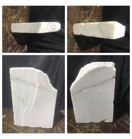 Stone 32lb Chinese White Marble Slab 14x9x2 #44333223