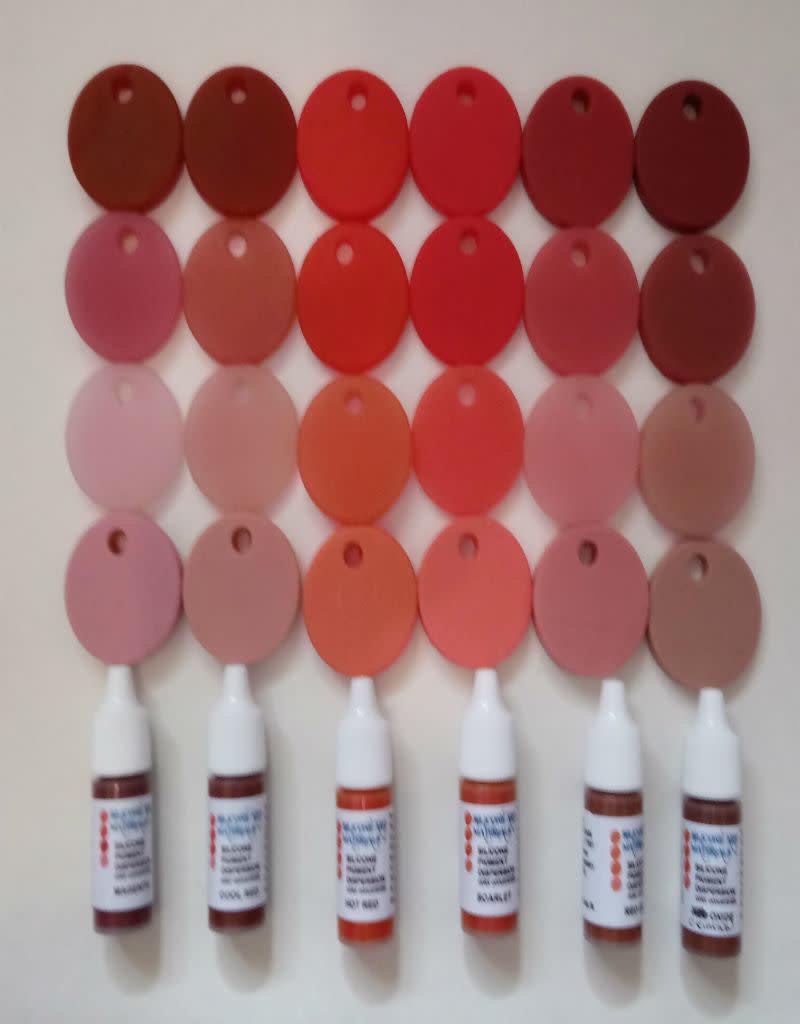 SAM Silicone Dispersion Reds 7ml Set (6 Red Tones)
