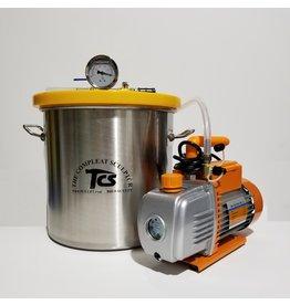 Just Sculpt 5 Gallon Vacuum Degassing Chamber Kit with 3 CFM Pump