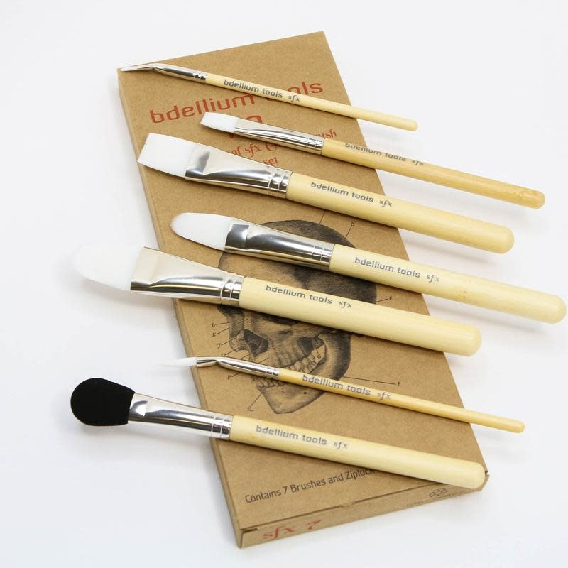 Bdellium Tools SFX Glue Brush Set 7 pc. with Ziplock Pouch