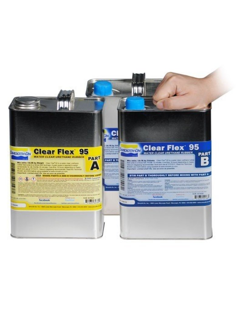 Smooth-On Clear Flex 95 3 Gallon Kit