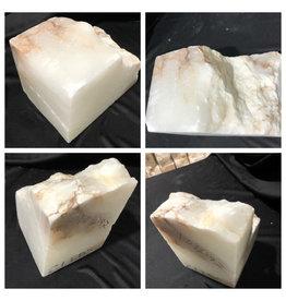 Stone 21lb Mario's White Translucent Alabaster 9x5x6 #101097