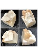 Stone 20lb Mario's White Translucent Alabaster 8x5x6 #101095