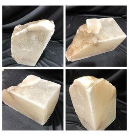 Stone 27lb Mario's White Translucent Alabaster 11x5x6 #101094