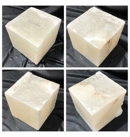 16lb Mario's White Translucent Alabaster 6x6x6 #101086