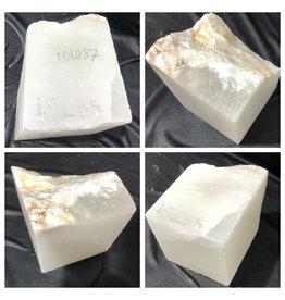 17lb Mario's White Translucent Alabaster 6x6x7 #101087