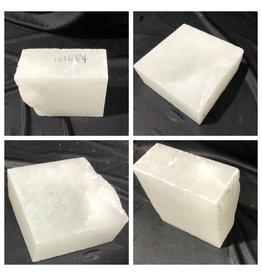 Stone 8lb Mario's White Translucent Alabaster 6x6x2 #101089