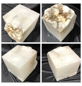 19lb Mario's White Translucent Alabaster 6x6x7 #101090
