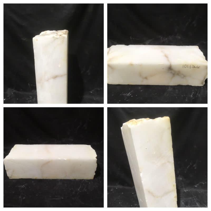 59lb Mario's White Translucent Alabaster 19x6x6 #101126