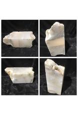 33lb Mario's White Translucent Alabaster 14x6x6 #101127