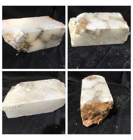 Stone 39lb Mario's White Translucent Alabaster 14x6x6 #101130