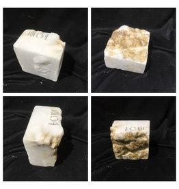 Stone 10lb Mario's White Translucent Alabaster 3x6x6 #101139