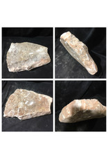 Stone 32lb Peach Translucent Alabaster 14x11x3 #251065
