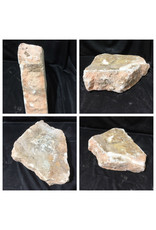 Stone 37lb Peach Translucent Alabaster 14x11x4 #251061