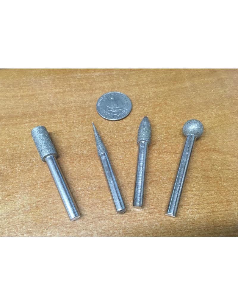 Just Sculpt 4pc Diamond Burr Set 1/4 Shank Fine Grit