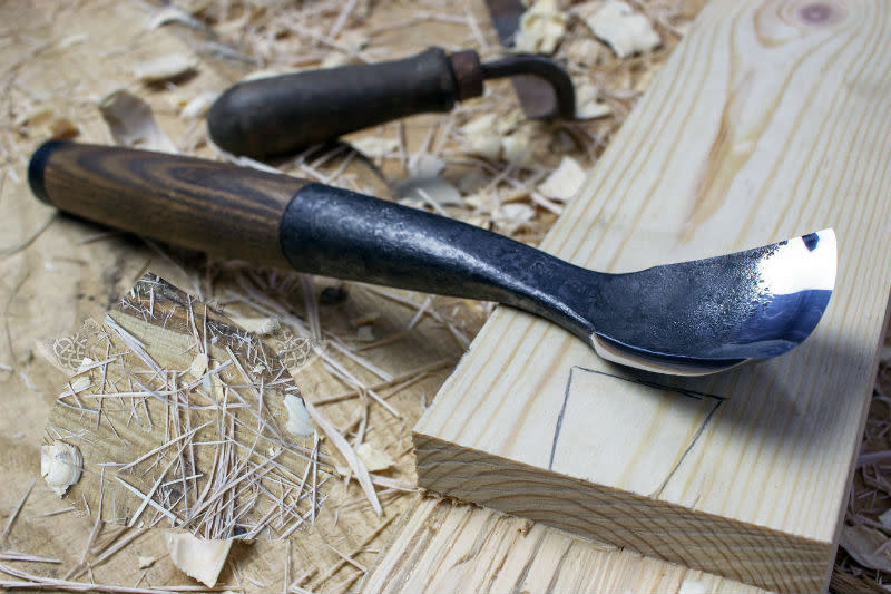 Roundwood Timber Framing Bent Gouge 2in