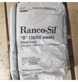 Ransom & Randolph Ranco-Sil #B -30-50 55lb Bag Coarse Fused Silica