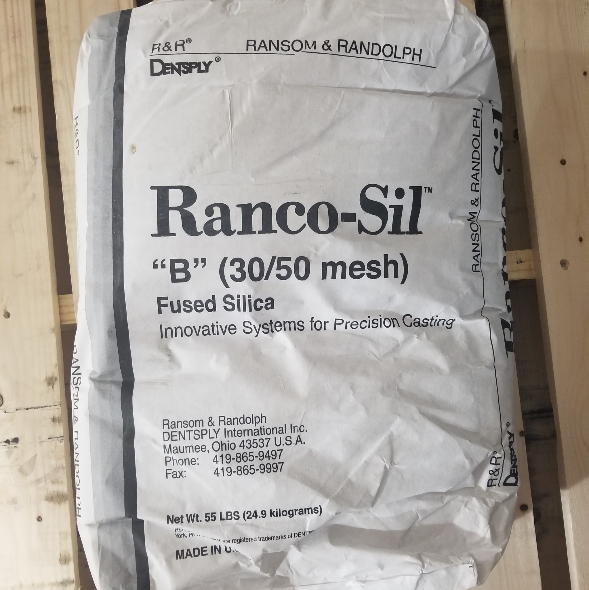 Ransom & Randolph Ranco-Sil #B -30-50 55lb Bag Coarse Fused Silica