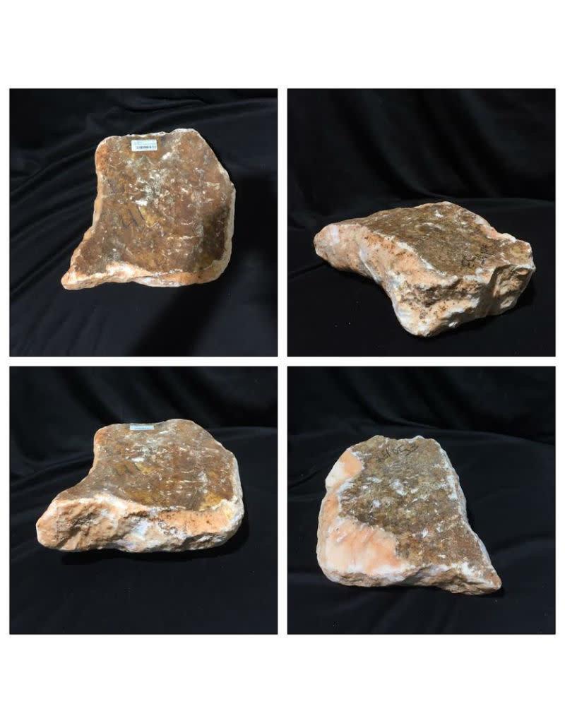 Stone 41lb Peach Translucent Alabaster 13x11x3 #251053