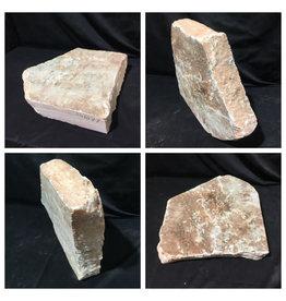 Stone 58lb Peach Translucent Alabaster 16x15x3 #251077