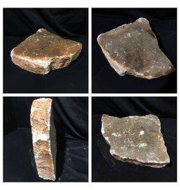 Stone 55lb Peach Translucent Alabaster 14x13x4 #251078
