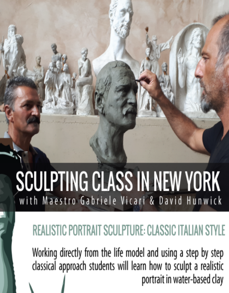 TCS Classes 191114 Portrait Sculpting in Clay : The Male Head