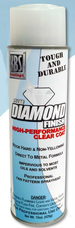 KBS Diamond Clear Finish Gloss 15oz Spray