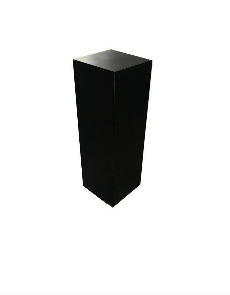 Just Sculpt Formica Pedestal 12x12x36 Black Matte
