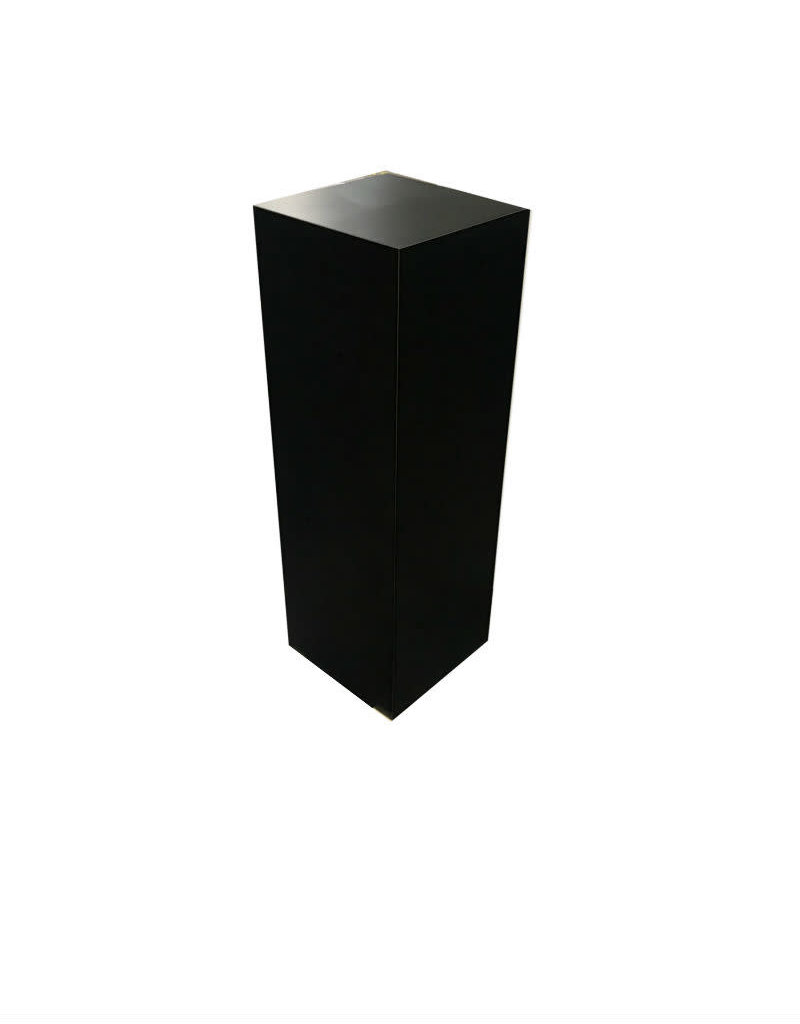 Just Sculpt Formica Pedestal 12x12x42 Black Matte
