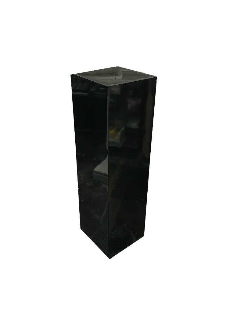 Just Sculpt Formica Pedestal 15x15x36 Black Gloss