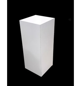 Just Sculpt Formica Pedestal 15x15x36 White Gloss