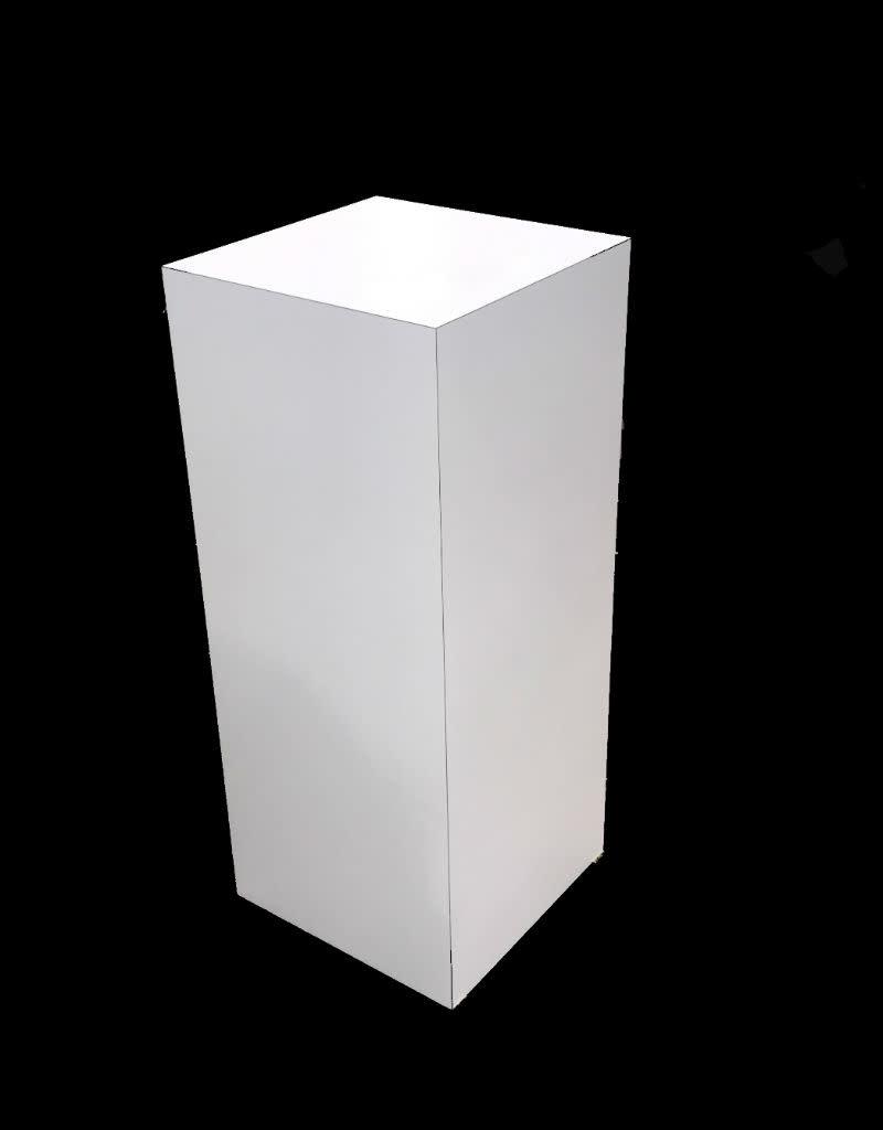 Just Sculpt Formica Pedestal 15x15x36 White Gloss