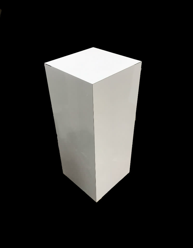 Just Sculpt Formica Pedestal 15x15x36 White Matte