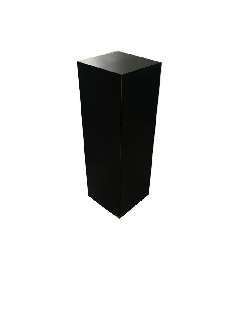 Just Sculpt Formica Pedestal 24x24x36 Black Matte