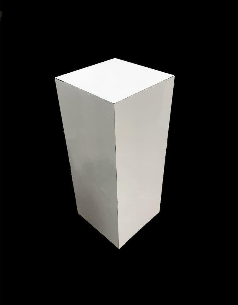 Just Sculpt Formica Pedestal 24x24x36 White Matte