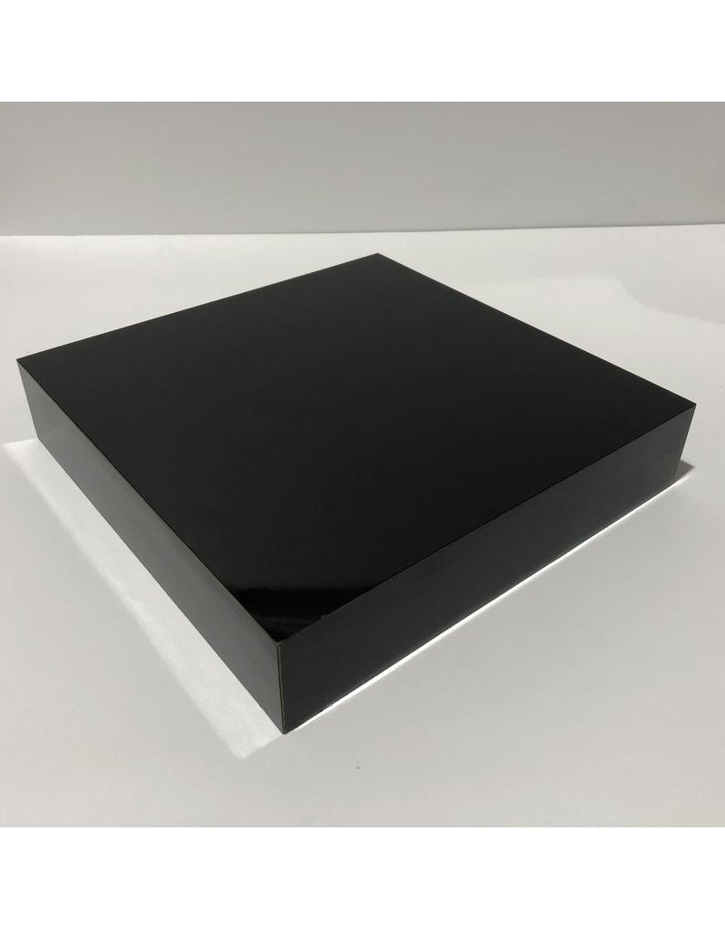 Just Sculpt Formica Base 10x10x2 Gloss Black