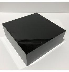Just Sculpt Formica Base 10x10x4 Gloss Black
