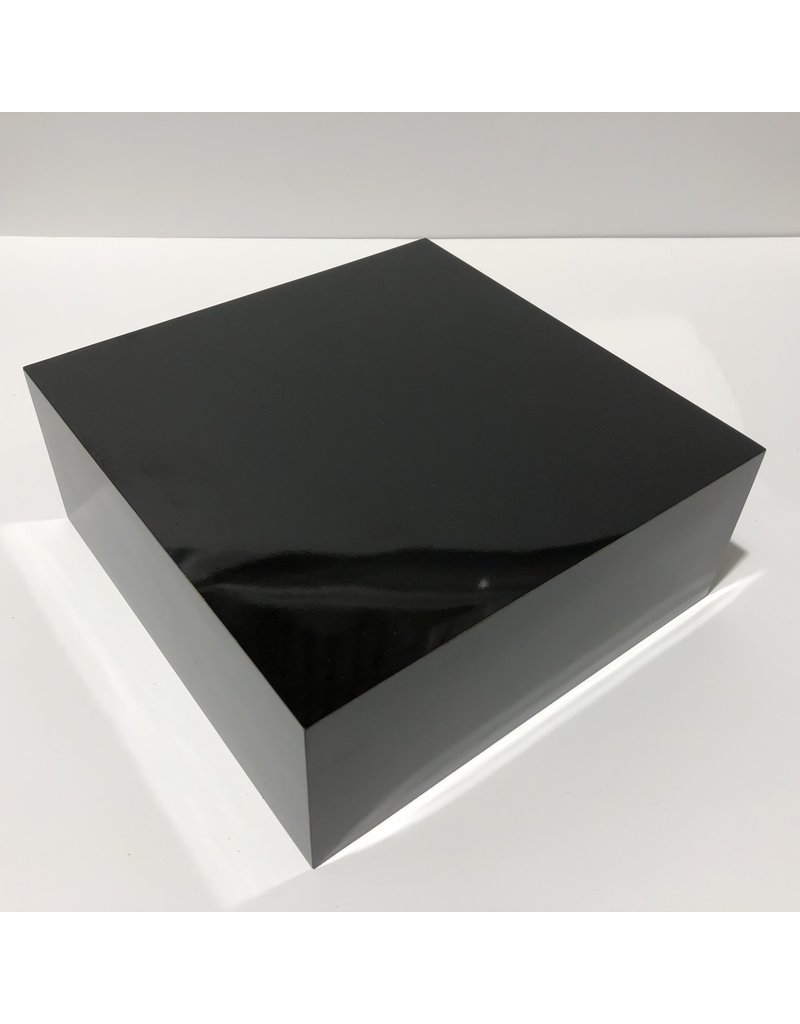 Just Sculpt Formica Base 10x10x4 Gloss Black