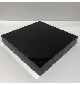 Just Sculpt Formica Base 12x12x2 Gloss Black