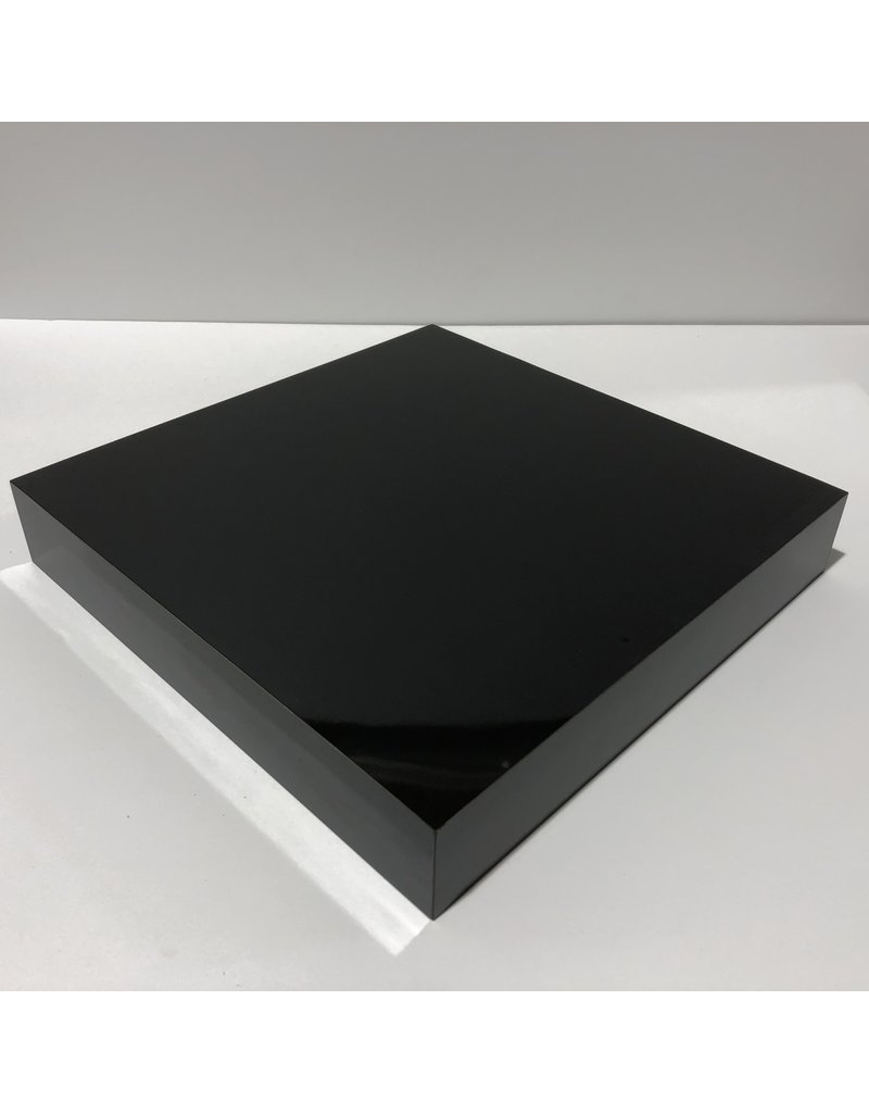 Just Sculpt Formica Base 12x12x2 Gloss Black