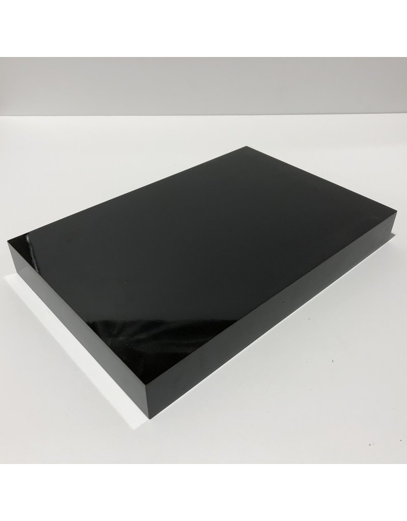 Just Sculpt Formica Base 12x8x1.5 Gloss Black